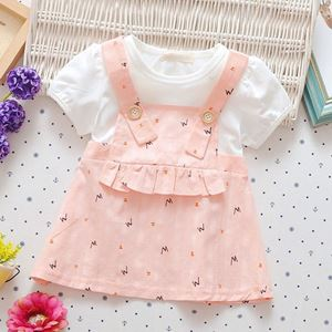 Picture of Sweet Letter Print Short Sleeve Dress for Baby Girl