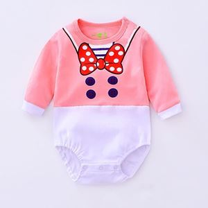 Picture of Adorable Cotton Ribbon Baby Girl Romper
