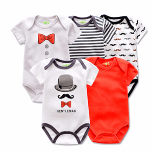 Picture of 5-piece Embroidered Printed Design Baby Romper Suit