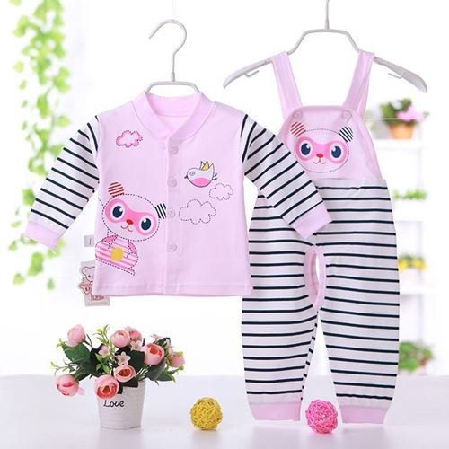 Picture of Adorable Bear Unisex Baby Overall Two-Piece Suit