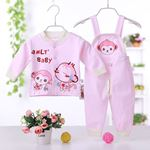 Picture of Adorable Pink Monkey Unisex Baby Overall Two-Piece Suit