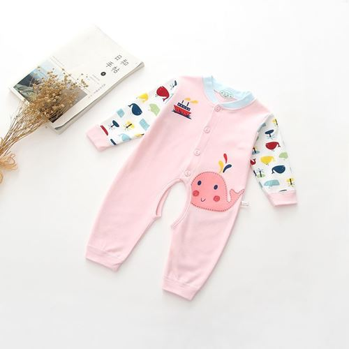 Picture of Adorable Pink Little Whale Unisex Baby Romper