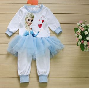 Picture of Pretty Elsa Frozen Lace Baby Girl Romper