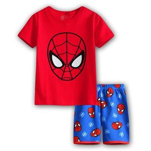 Picture of Cartoon Spiderman Short Sleeve Casual Wear Two-Pieces Set