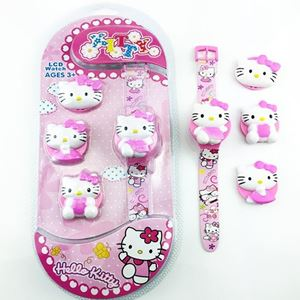 Picture of DIY Cartoon 3D Digital Toy Watch For Girl