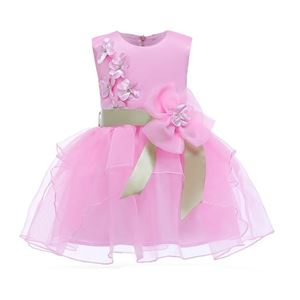 Picture of Graceful Small Flowers Appliques Lace Bowknot Princess Dress