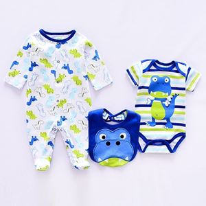 Picture of Cool Crocodile Printed Romper&Jumpsuit With Bib