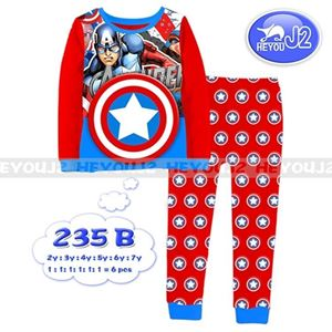 Picture of 2-Piece American captain Printed Casual Wear&Pyjamas Clothing Set (2-7y)