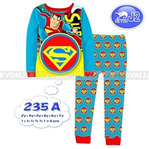 Picture of 2-Piece Superman Printed Casual Wear&Pyjamas Clothing Set (2-7y)