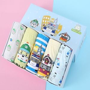 Picture of Korean Children Design Poli 02 Cotton Panties Gift Box Set