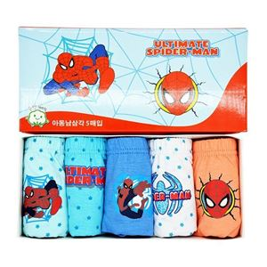 Picture of Korean Children Design Spiderman Cotton Panties Gift Box Set