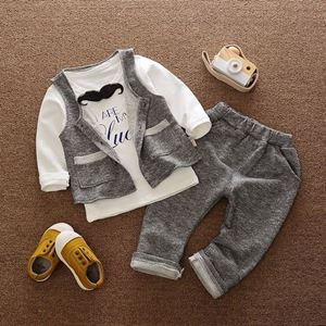 Picture of Design Beard Boy Longsleeve Vest Shirt and Pant 3-Piece Set