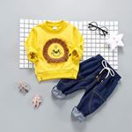 Picture of Yellow Lion Shirt & Trousers 2-Piece Boy Clothing Set