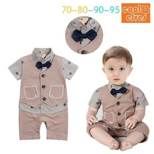 Picture of Gentleman Stylish Bow Baby Boy Suit Romper Jumpsuit Clothes