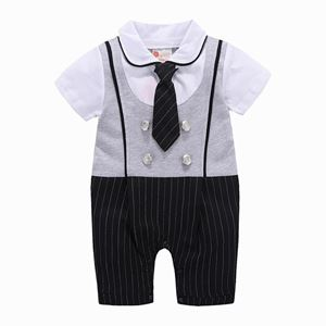 Picture of Gentleman Stylish Necktie Baby Boy Suit Romper Jumpsuit Clothes