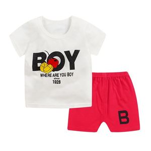 Picture of BOY Printed Short Sleeve Casual Wear Two-Piece Clothing Set