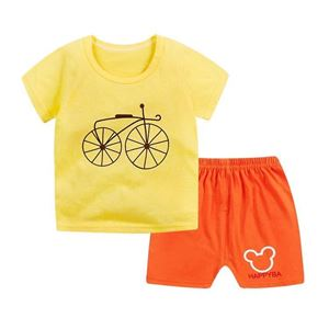 Picture of Bicycle Printed Short Sleeve Casual Wear Two-Piece Clothing Set