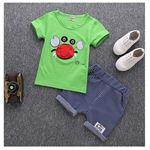 Picture of Boy Crab Short Sleeve Shirt and Striped Pant Two-Piece Set
