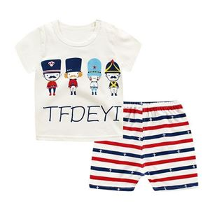 Picture of Little Soldier Printed Short Sleeve Casual Wear Clothing Set