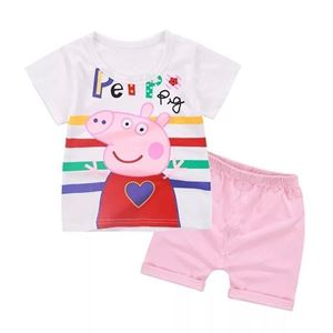 Picture of Peppa pig Printed Short Sleeve Casual Wear Clothing Set