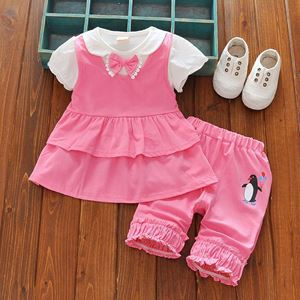 Picture of Penguin Short Sleeve Shirt &Pans Two-Piece Clothing Set
