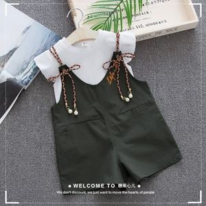 Picture of Korea Stylist Overall Pans Two-Piece Set
