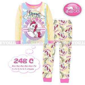 Picture of 2-Piece Unicorn Printed Short Sleeve Casual Wear Clothing Set (2-7y)