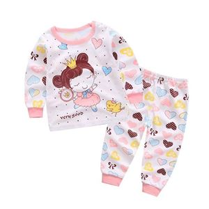 Picture of Crown Little Girl Pattern Pyjamas Sleepwear Set