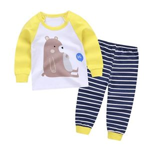 Picture of Yellow Bear Pattern Pyjamas Sleepwear Set