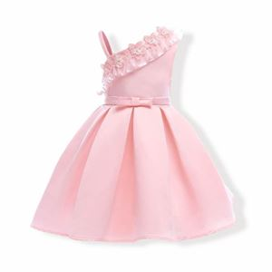 Picture of Graceful Bowknot Flower Sleeveless Zipper Back Princess Dress