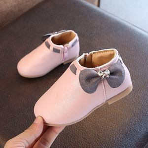 Picture of Fashionable Ribbon Zip Short Boot Shoes