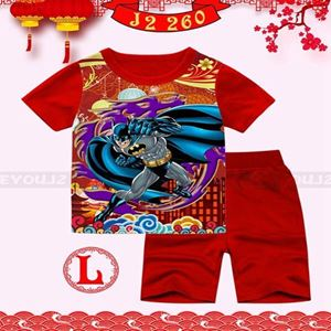 Picture of CNY Batman Short Sleeve Shirt and Pant Two-Piece Set(2-7y)