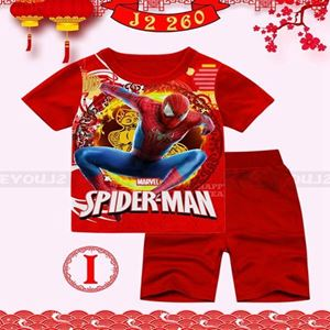 Picture of CNY Spiderman Short Sleeve Shirt and Pant Two-Piece Set(2-7y)