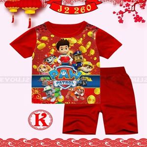 Picture of CNY Paw Patrol Short Sleeve Shirt and Pant Two-Piece Set(2-7y)