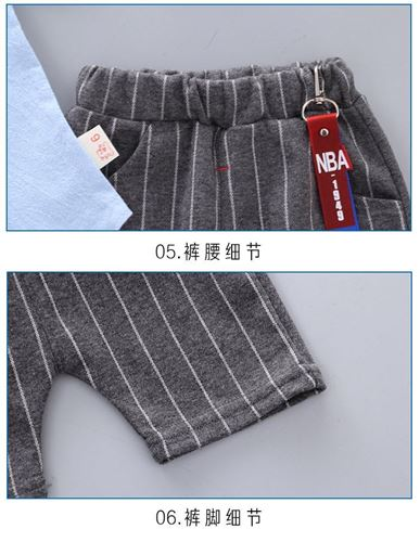 Picture of Handsome Tie Short Sleeve Shirt and Pant Two-Piece Set