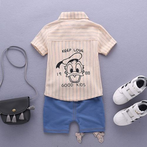 Picture of Daisy Duck Stripe Short Sleeve Shirt and Pant Two-Piece Set