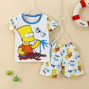 Picture of Coconut Tree Printed Short Sleeve Casual Wear Clothing Set