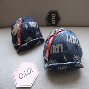 Picture of Korean Style Kids Baseball Cap Bear Letter