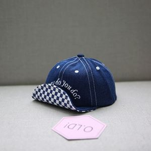 Picture of Korean Style Kids Baseball Cap Design Lattice