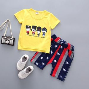 Picture of Printed Soldier Short Sleeve Shirt and Pant Two-Piece Set