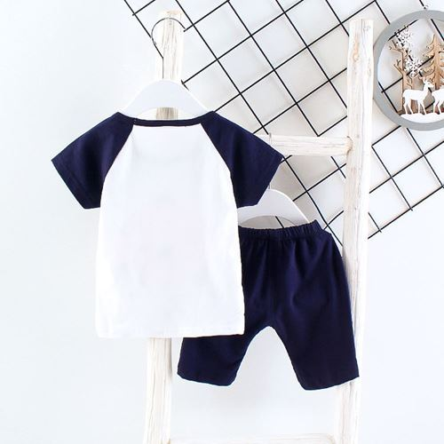 Picture of Letter Butterfly Short Sleeve Shirt and Pant Two-Piece Set