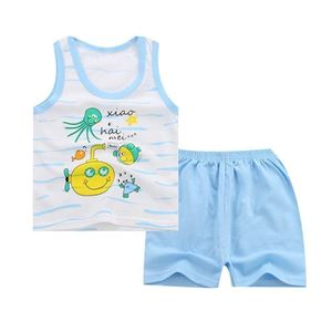 Picture of Two-Pieces Ocean Sleeveless Garment and Shorts Pants For Boy Clothing Set