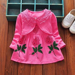 Picture of Sweet Flower Dress With Long Sleeve Coat Set for Girl