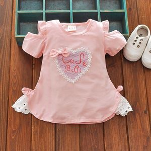 Picture of Sweet Ribbon Short Sleeve Dress for Girl