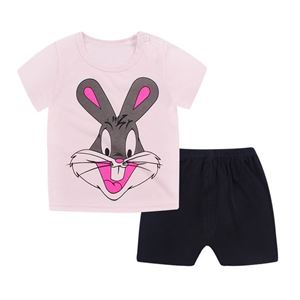 Picture of Rabbit Printed Short Sleeve Casual Wear Clothing Set