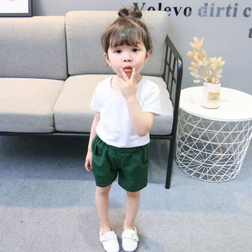 Picture of Korea Stylist Strap Short-sleeved Shirt&Pants Three-Piece Clothing Set