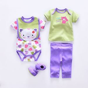 Picture of Little Kitten Baby Short-sleeve Romper (5in1)