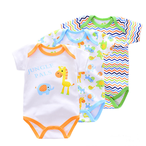 Picture of 3-piece Marine life&Stripe Printed Baby Romper Suit
