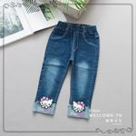 Picture of Cute Kitten Stylish Jeans Long Pants for Kids