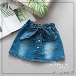 Picture of Fashionable Casual Denim Mini Skirt for Kids